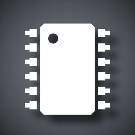 chipset: Vector microchip icon