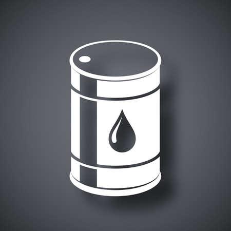naphtha: Vector oil barrel icon