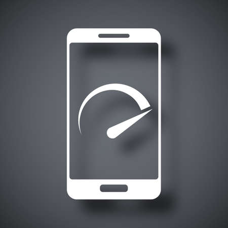 speed test: Vector speed test smartphone icon