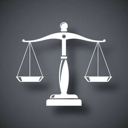 fairness: Vector vintage scales of justice icon