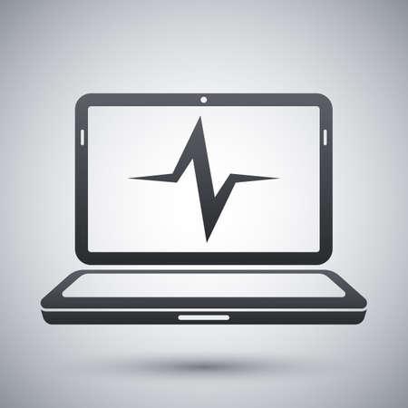 diagnostics: Vector laptop diagnostics icon