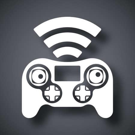 remote control: Drone remote control icon, vector Illustration