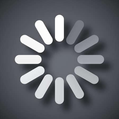 icono ordenador: Cargando icono, vector