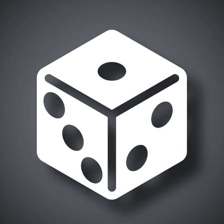 wagers: Vector dice icon Illustration