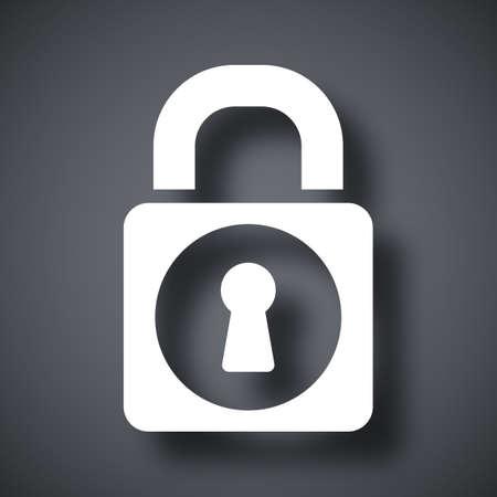 padlock icon: Vector padlock icon Illustration