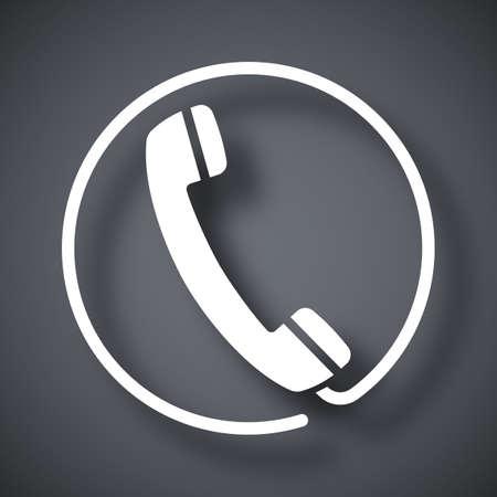 cable telefono: Vector icono de auricular del tel�fono