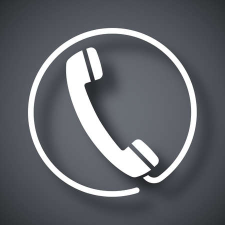 vintage telephone: Vector telephone receiver icon