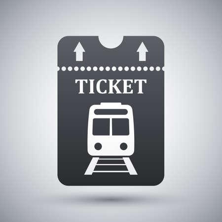 train ticket: Vector train ticket icon