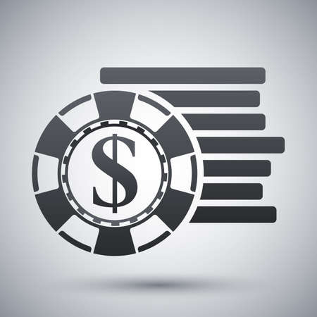 gambling chips: gambling chips icon Illustration