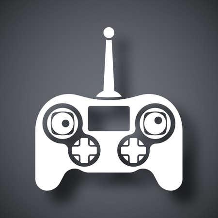 remote control: Vetor drone remote control icon Illustration