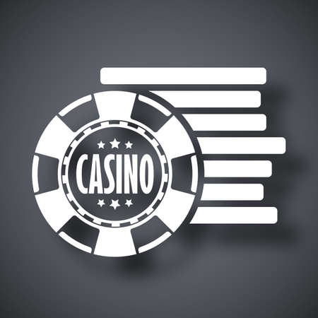 wagers: Casino chips icon, stock vector Illustration