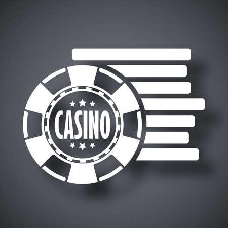 fichas de casino: fichas de casino icono, vector stock