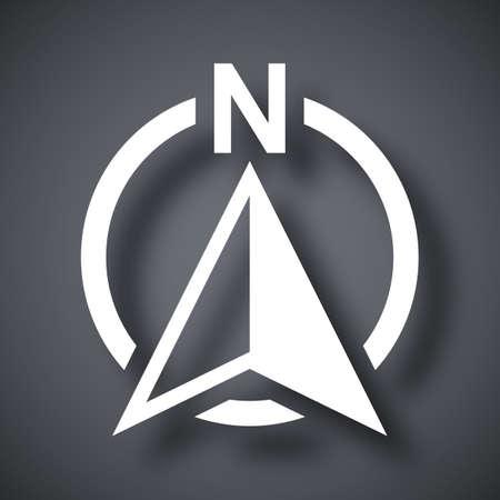Norte icono de dirección de la brújula, vector Ilustración de vector