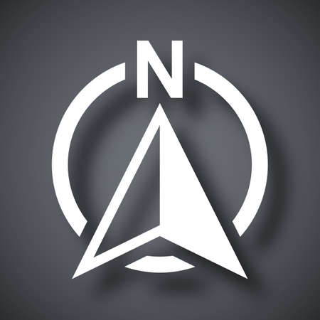 North direction compass icon, vector 向量圖像