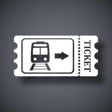 train ticket: Train ticket icon, stock vector