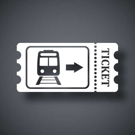 Train ticket icon, stock vector