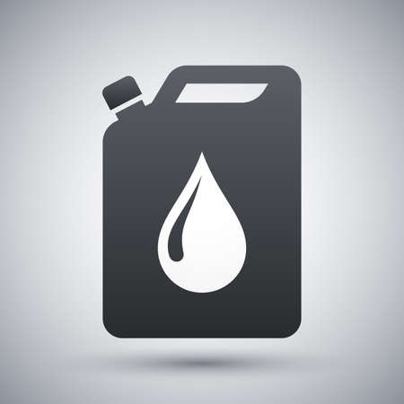 Vector oil jerrycan icon 版權商用圖片 - 55395765