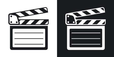 Wektor wyżywienie clap ikony. Wersja dwukolorowe na czarno-białym tle