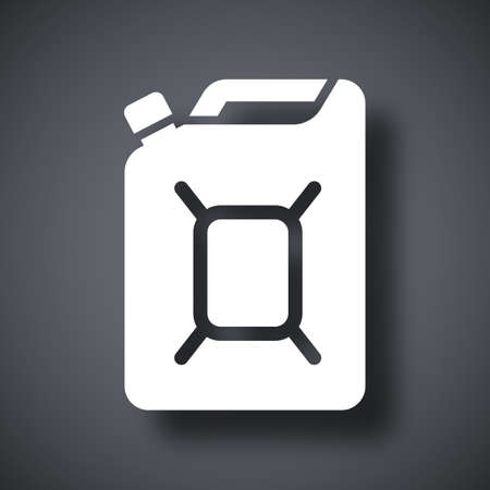 petrolium: Jerrycan of fuel icon, vector