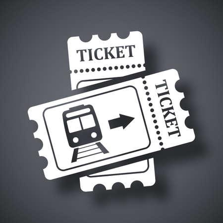 Billets de train icône, vecteur stocks Vecteurs
