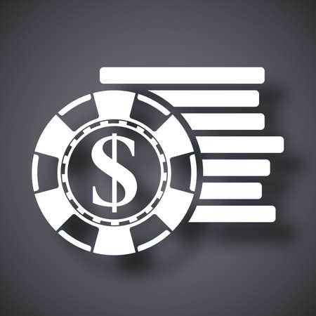 gambling chips: Vector gambling chips icon Illustration