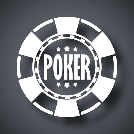 poker chip: Vector poker chip icon