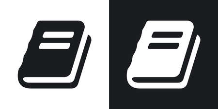 bookmarking: Vector book sign or icon. Two-tone version on black and white background Illustration
