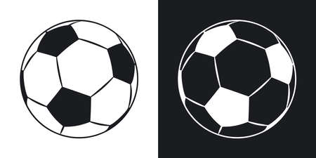 tourney: Vector football icon. Two-tone version on black and white background Illustration
