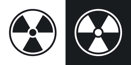 nuclear sign: Vector nuclear sign or icon. Two-tone version on black and white background