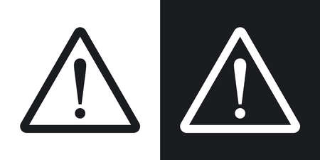 Warning Logo Black And White