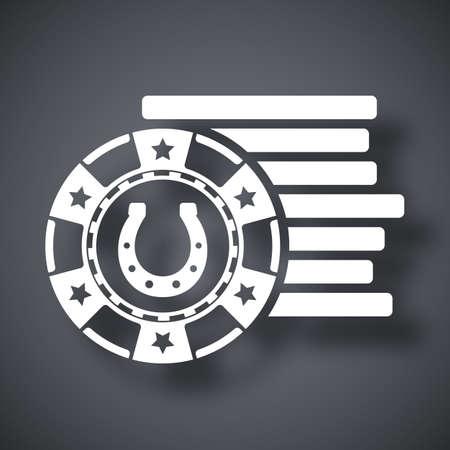 gambling chips: Gambling chips icon, vector Illustration
