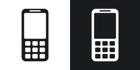 wap: Vector mobile phone icon. Two-tone version on black and white background