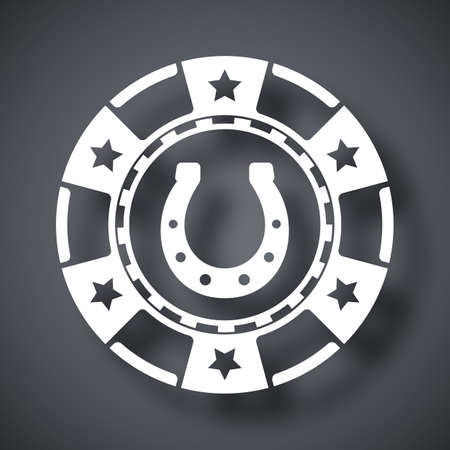 casino chip: Vector casino chip icon