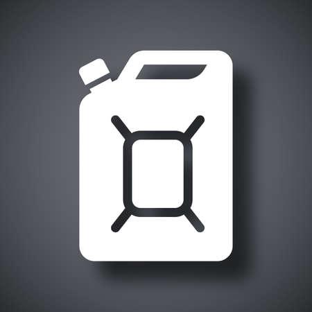 petrolium: Vector jerrycan of fuel icon Illustration