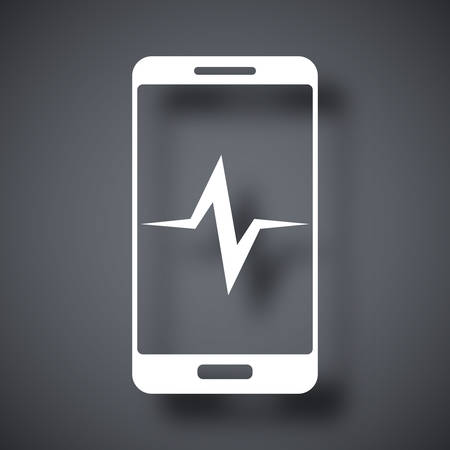 diagnostics: Vector smartphone diagnostics icon