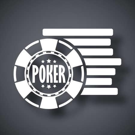 poker chips: Vector poker chips icon Illustration