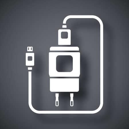 Konzeptionelle Symbol Abhängigkeit Des Lade Smartphone. Smartphone ...