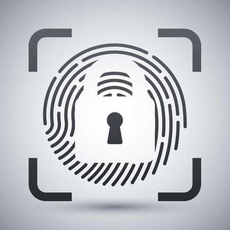 dactylogram: Fingerprint Scanner Locked icon. Fingerprint Scanner Locked simple icon on a light gray background