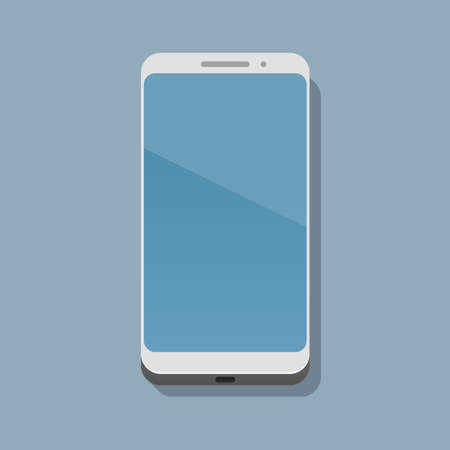 A modern smartphone is on a flat surface and casts a shadow on it. View from above. Vector illustration in a trendy flat style Illustration