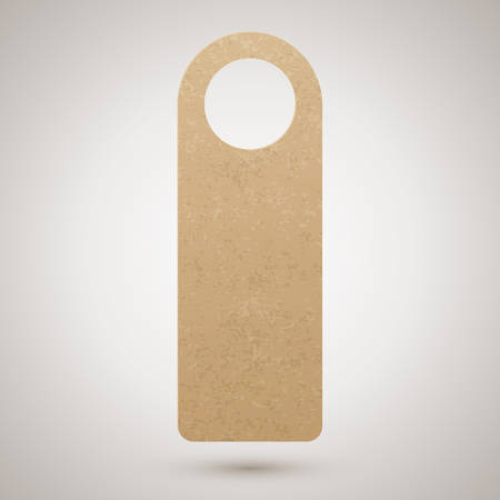 Empty cardboard door hanger. Please do not disturb or make up room, vector illustration Ilustracja