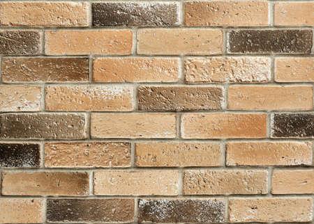 Close-up of old brick wall. Dirty bricks. Grunge brick wall texture background Zdjęcie Seryjne