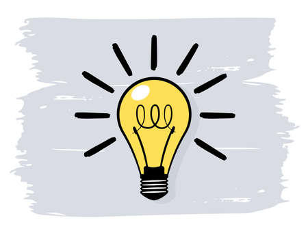 Light bulb or idea concept icon. Vector illustration on white background