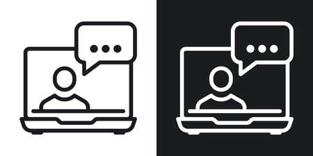 Video conference, online meeting or webinar icon.
