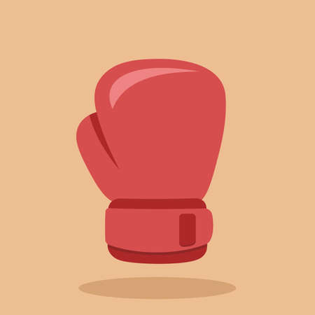 Boxing glove icon isolated on colored background. Vector illustration 向量圖像