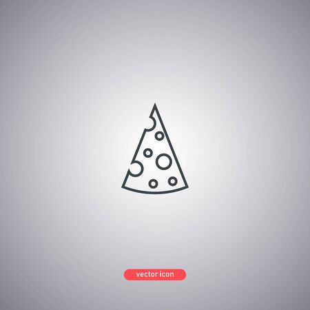 Cheese icon isolated on gray background. Modern line style. Vector illustration.