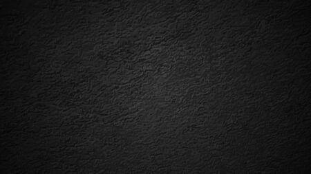 Black texture, dark backlit wall. Vector illustration. Vettoriali