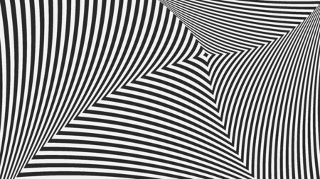 Op background. Abstract background. Hallucinations black and white lines. Vector illustration.