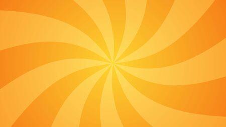 Fond de bande dessinée abstrait orange. Rayons, spirale. Le dégradé classique. Illustration vectorielle. Vecteurs