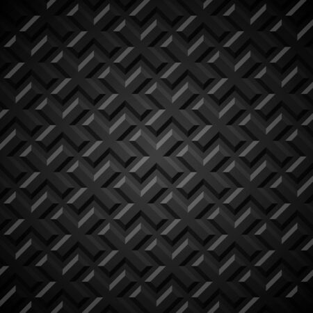 Seamless geometric background. Crosses embossed with shadow. Vector illustration. Illustration