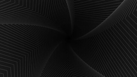 Op art background. Optical abstract background. Gray lines on a black background. Vector illustration.